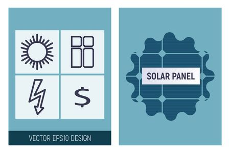 Solar panel infographics. Vector illustration. A striking design of green technology.