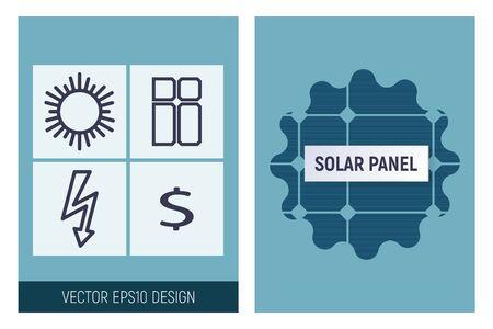 Solar panel infographics. Vector illustration. A striking design of green technology.