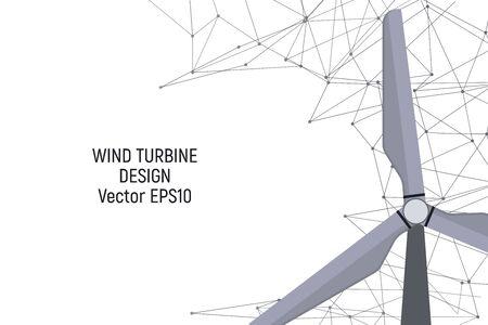 Wind generator. Electricity generation. Vector illustration Modern technology