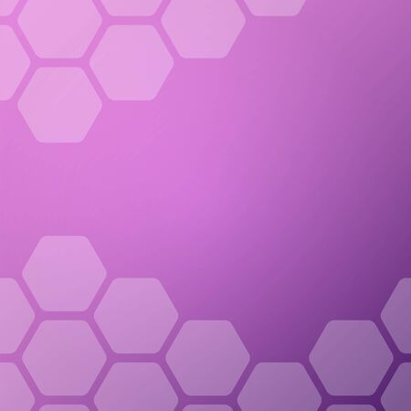 Abstract purple background with hexagons. Web blank card design. Vector illustration.