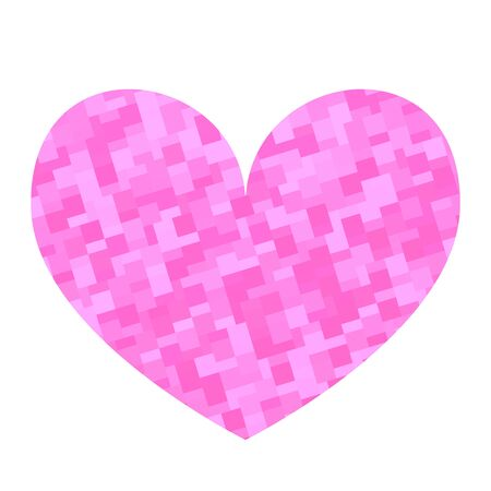 Square texture heart. Valentine day card. Vector illustration.