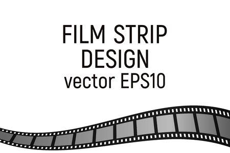 Gray film strip border design. Vector illustration. Cinema production.