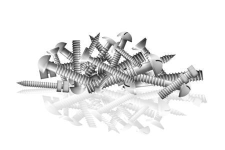 Nails of stainless steel pile. The group fastener symbol vector illustration. Vectores