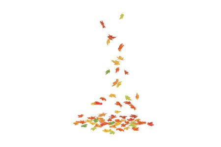 Falling maple leaves. Autumn pattern Vector illustration. Vectores