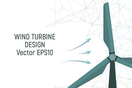 Wind turbine. Electric energy. Vector illustration Modern industry Vectores