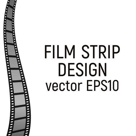 Filmstrip design. Vector illustration. Movie record Border picture Vectores