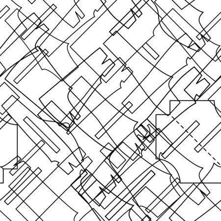 Seamless pattern background sewing design. Vector illustration.  イラスト・ベクター素材