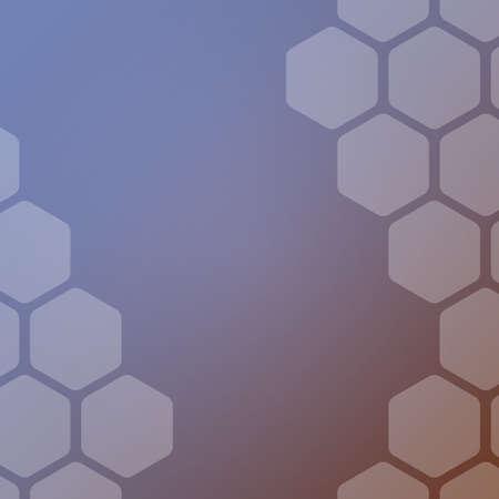 Abstract background with hexagons. Web blank card design. Vector illustration. Ilustração