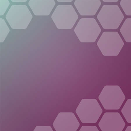 Abstract violet background with hexagons. Web blank card design. Vector illustration.