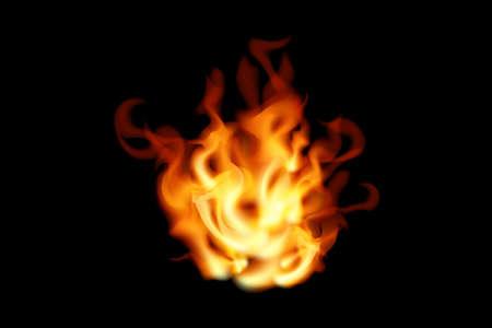 Fire on black background. Vector illustration flame design. 向量圖像