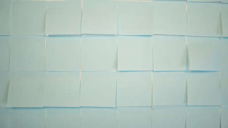 Blue stickers backdrop. Empty paper sticky, notepapers