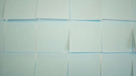 Blue stickers background. Empty paper sticky, notepapers 版權商用圖片