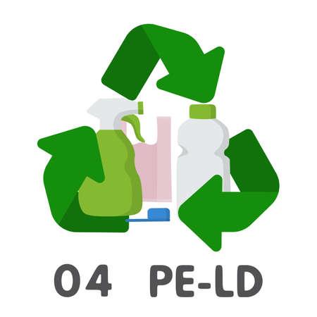 Plastic recycle symbol vector illustration design. PE-LD LDPE