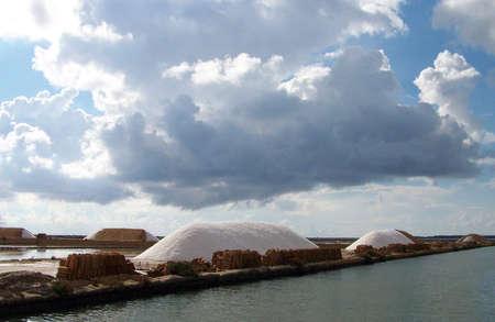 salt mine: Salt mine in Marsala, Sicily, Italy.