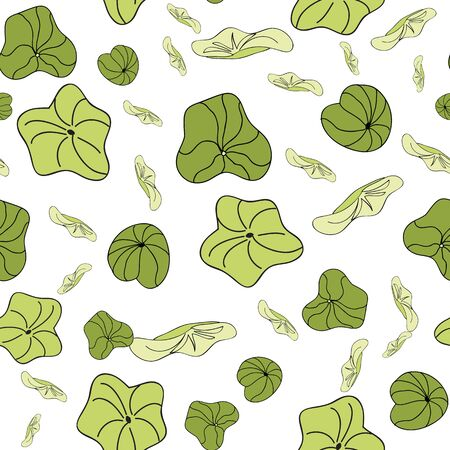 Lily Pads scatter pattern vector seamless repeat surface pattern design Illustration