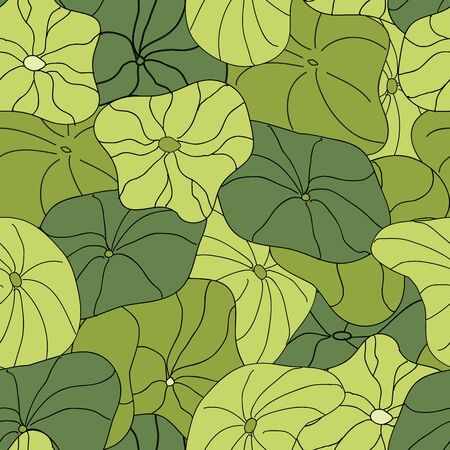 Lily Pads blanket full coverage pattern vector seamless repeat surface design Illustration