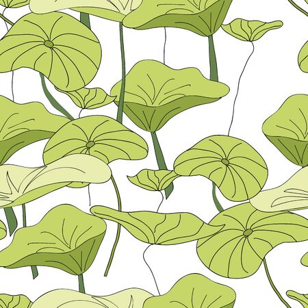 Lily Pads Pond pattern vector seamless repeat surface pattern design