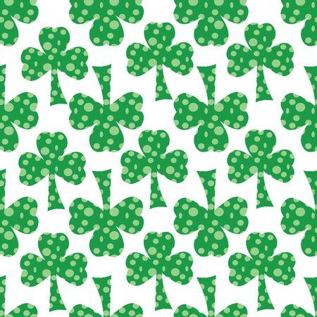 Seeing Spots Shamrocks green clovers seamless vector repeat surface pattern design