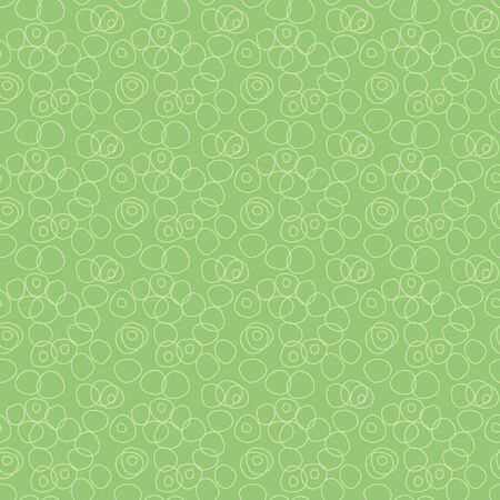 Interlocking rings on a light green background seamless vector repeat pattern design