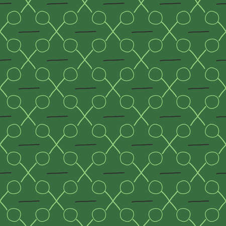 Geometric seamless pattern with intersecting lines grids cells. Criss-cross background green vector graphics seamless pattern graphic design