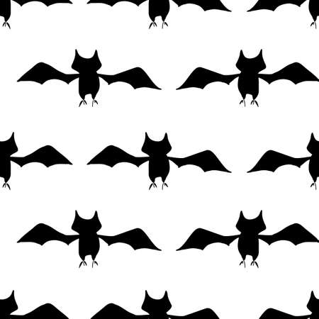 Bats a plenty seamless vector repeat black bats in stripes on a white background surface pattern design