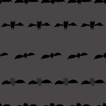 Washi Bats seamless vector repeat black bats in stripes on a gray background surface pattern design Vektoros illusztráció