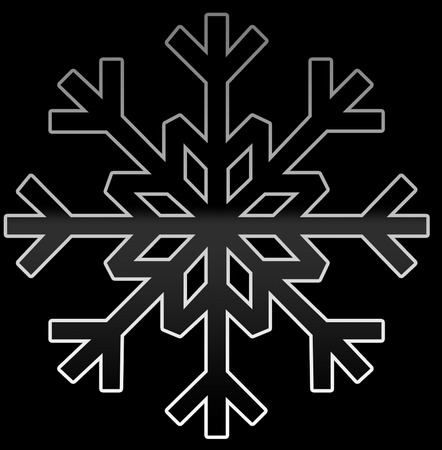 A simple black and gray snowflake with gradient.