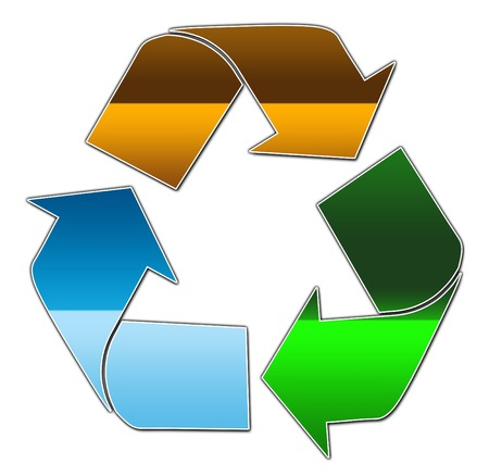 A blue green and brown recycling symbol Stock Vector - 3084274