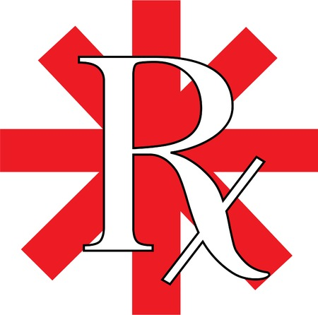 a red and white RX logo illustration Illustration