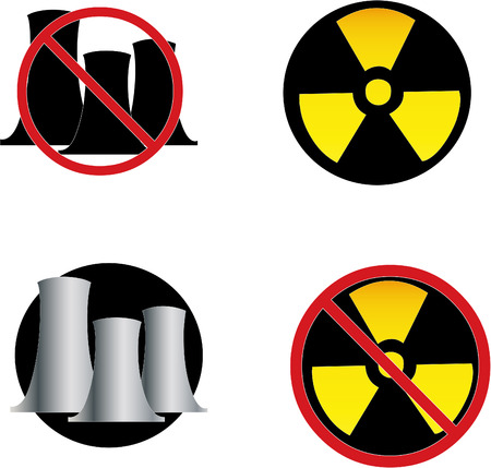 anti nuclear: a set of anti nuclear icons Illustration