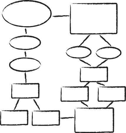 manuscrita: a flowchart diagram Ilustra��o