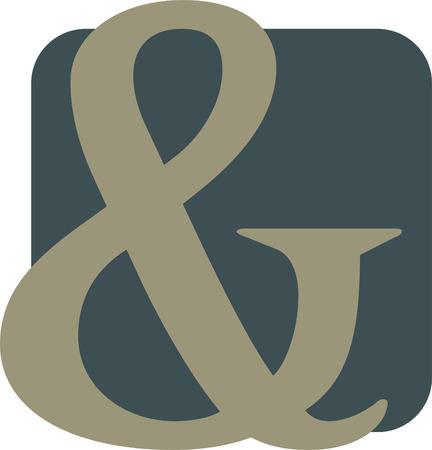 Ampersand Illustration Illustration