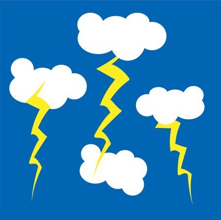 A childlike Illustration of a cartoon style sky Vector