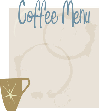 Retro Style coffee menu