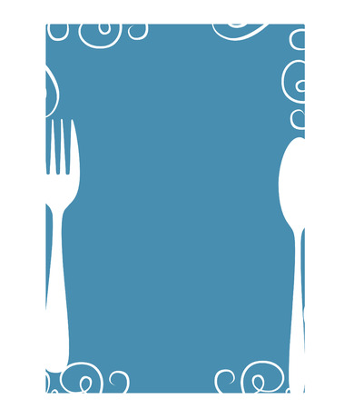 diner: Blank menu template Illustration