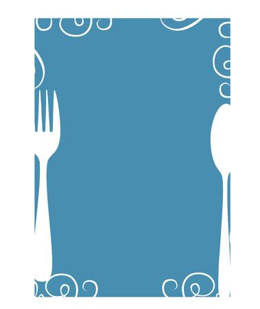 Plantilla de menú en blanco