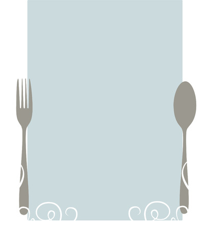 Elegant blank menu template Illustration