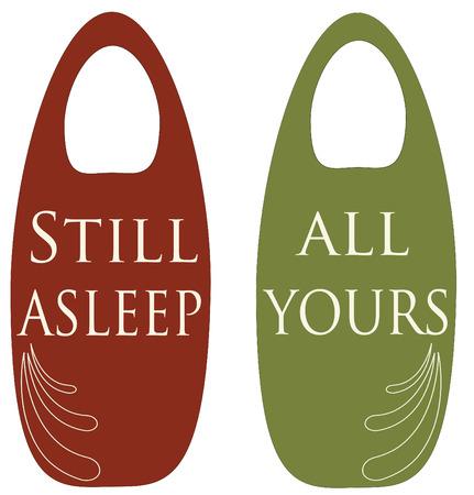 dormir habitaci�n: Perchas de privacidad de habitaci�n de hotel