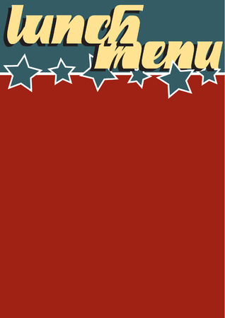 Retro style blank menu Stock Vector - 6697797