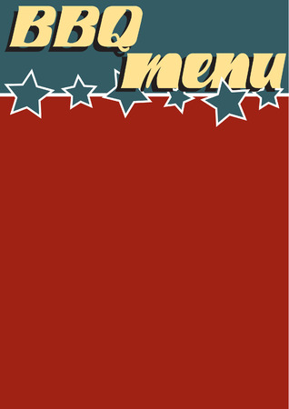 A retro style BBQ menu