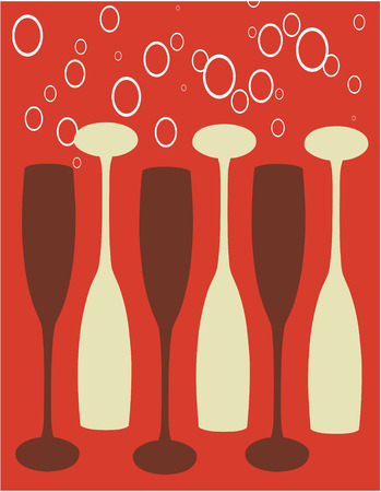 A fun abstract champagne background