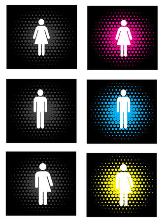 Gender icons Stock Vector - 6859867