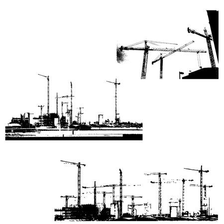 Urban construction vectors