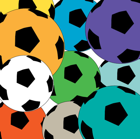 Colourful soccer ball background