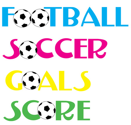 sports soccer text banners Stock Vector - 7071859