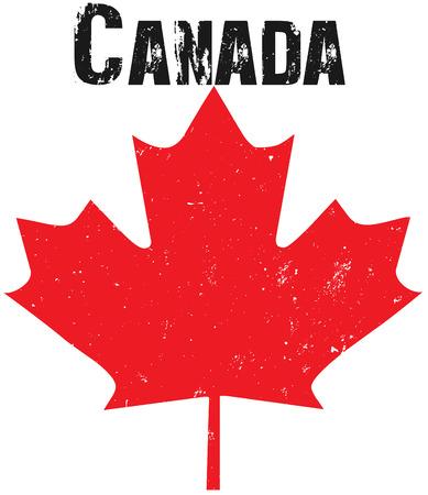 Grunge Canada illustration