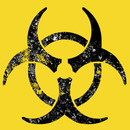 warned: Grunge Biohazard sign Illustration