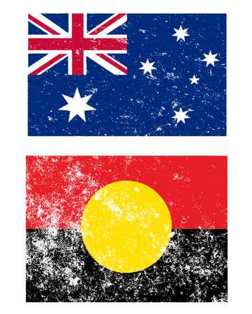 oz: Grunge style Flags of Australia