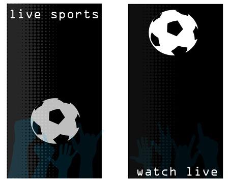 sports bar promo cards Vector