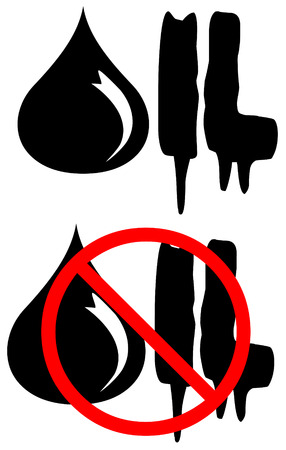 No Oil icons Stock Vector - 7198414